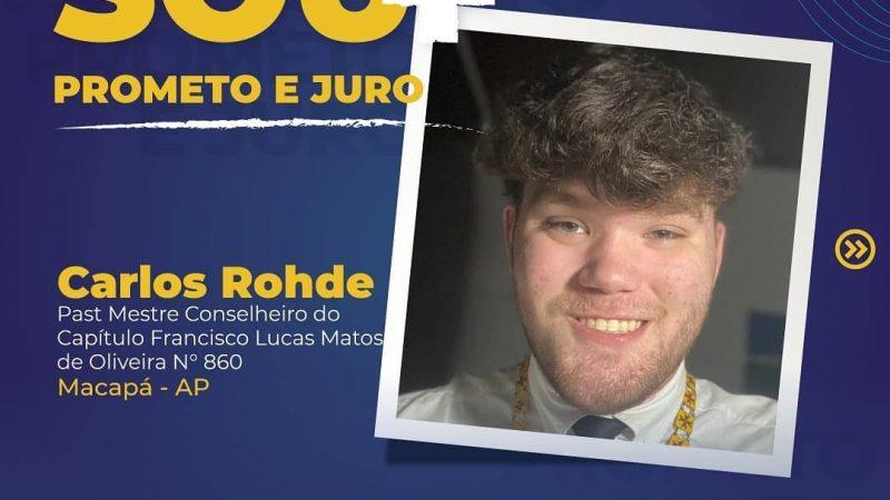 Carlos Rohde, do Capítulo Francisco Lucas Matos de Oliveira 860